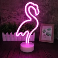 usb or battery powered led neon sign light holiday flamingo night light xmas party wedding decoration home gift neon lamp