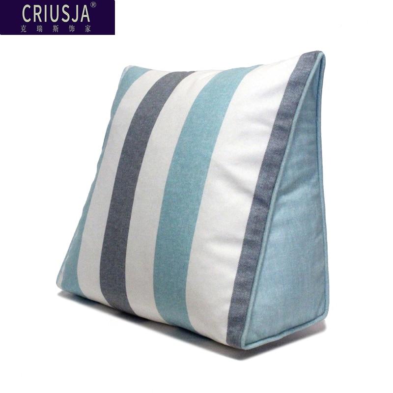 Cojín de respaldo triangular Chris, almohada para la parte posterior de la cama, almohada para la cabeza de la cama, bolsa para el coche, cojines, decoración del hogar, regalo de cumpleaños Cojin FK057