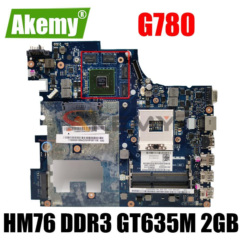Akemy اللوحة المحمول لينوفو Ideapad G780 QIWG7 LA-7983P HM76 PGA989 DDR3 GT635M 2GB 100% اختبار بالكامل