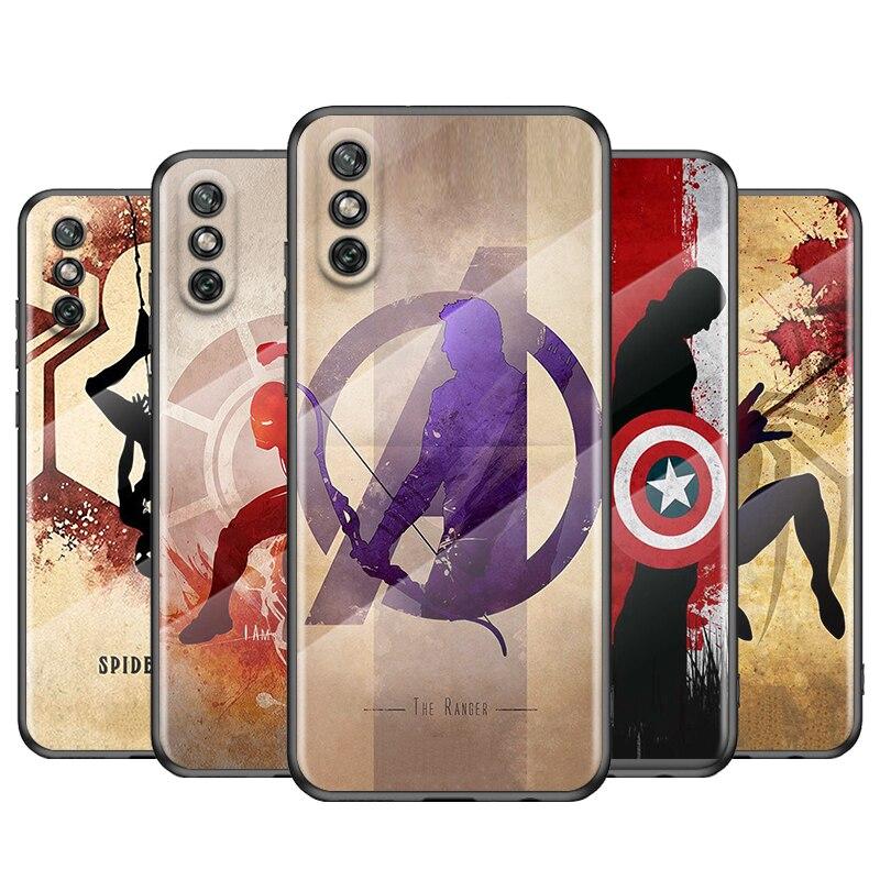 vengador-marvel-superheroe-para-huawei-y6-y7-y9-y5p-y6p-y8s-y8p-y9a-p-smart-z-2019-de-2020-de-2021-funda-de-vidrio-templado-para-telefono