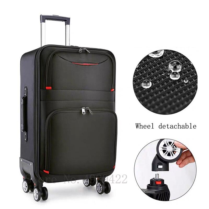 "22/24/26/28 pulgadas maleta de viaje con ruedas 20 ""cabaña maleta de mano con ruedas y Asa bolsa de equipaje Oxford impermeable rodante maleta equipaje"