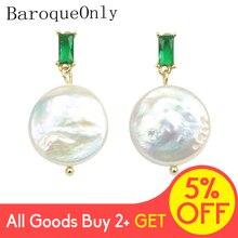 Schmuck kristall ohrringe Tropfen Mode Perle Ohrringe INS Celi * e Stil grün stonePearl tasten Geschenke für frau EAP