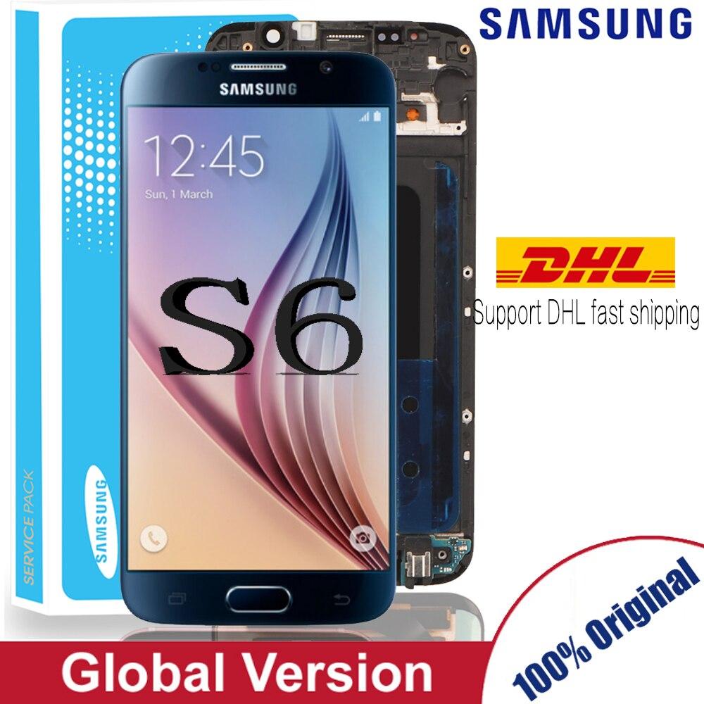 Original 5.1 ''Super AMOLED Ersatz LCD S6 für SAMSUNG GALAXY S6 G920 SM-G920F G920F G920FD Touchscreen Digitizer Montage