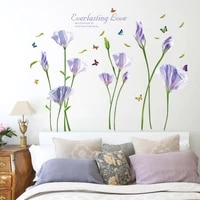 warm purple common calla sofa tv background decorative waterproof removable self adhesive wall sticker