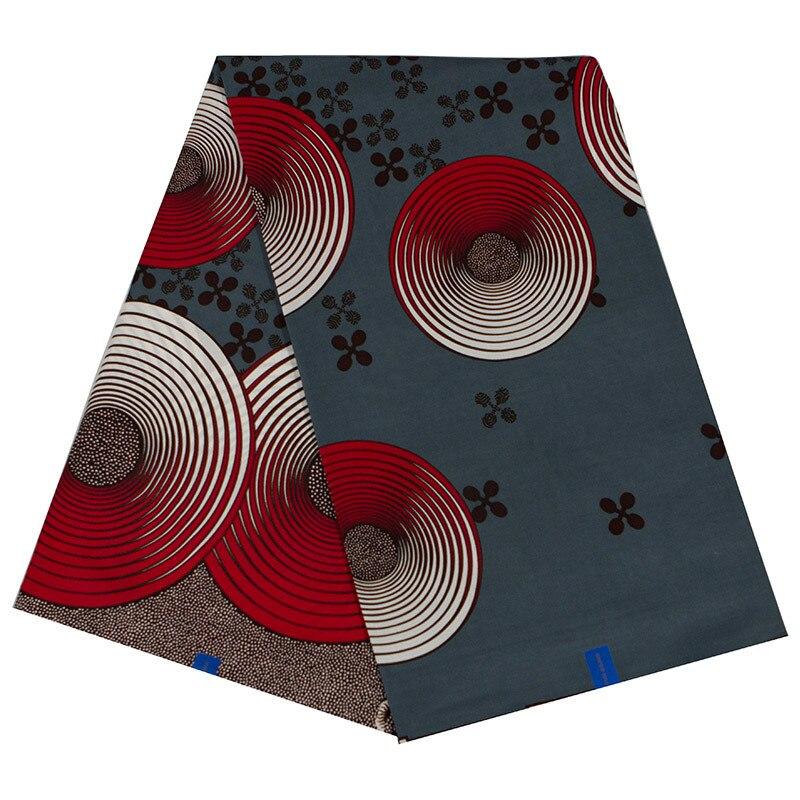100% Cotton 2020 New Arrivals African Fashion Red & Gray Print Fabric Ankara Wax Java