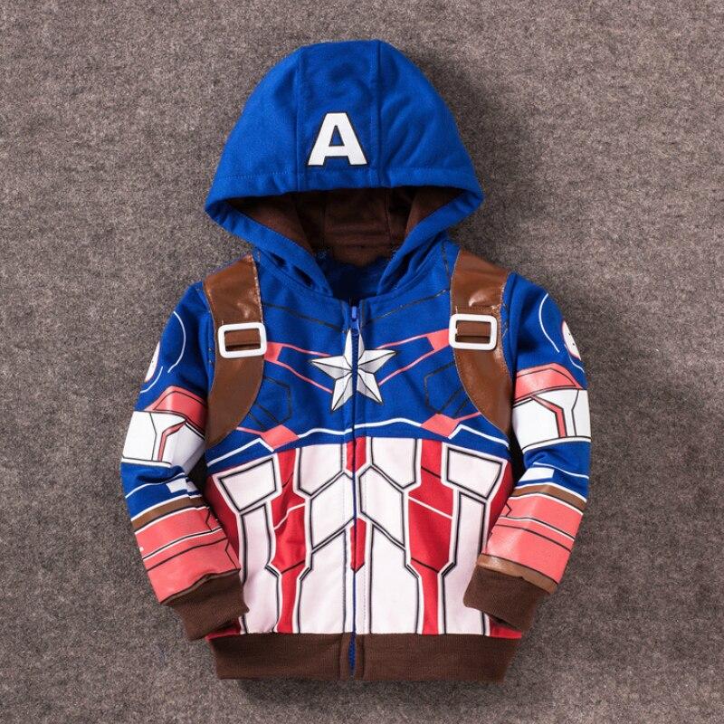 Abrigo de hombre araña vengadores Iron Man Thor niños sudaderas con capucha niños ropa de bebé niños abrigo traje niños Sudadera con capucha niños camisetas