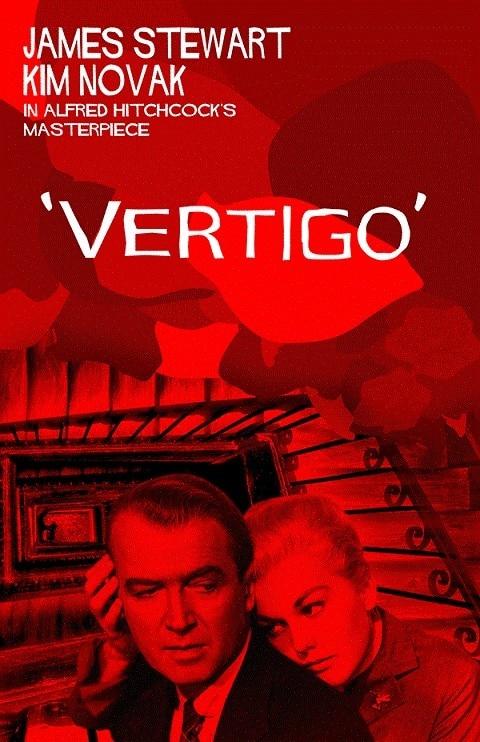 Película Vertigo, póster de seda con impresión de la película de Arte de James Stewart Kim vacy, para decoración de pared de su hogar, 24x36 pulgadas