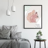 natural animals posters home decoration anthropomorphic life pattern wall art living room office house decors canvas with frame