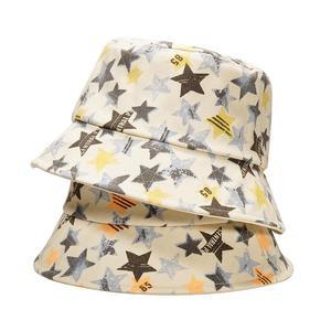 2021 Cotton four seasons Star Print Bucket Hat Fisherman Hat Outdoor Travel Hat Sun Cap for Men and Women 408