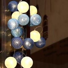 5M 20 LED fée chaîne lumineuse guirlande boules noël noël Halloween vacances mariage fête lumières LED décoration EU Plug 220V JQ