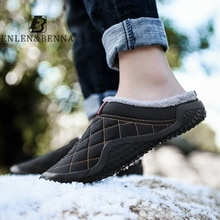 Lazy Cotton Slippers Men Winter Outdoor Men Shoes WaterProof Cold-Proof Casual Shoes Men Plush Warm