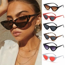 Ladies Sexy Retro Small Triangle Sunglasses Female Shades Women Fashion Anti Blue Light Glasses Tren