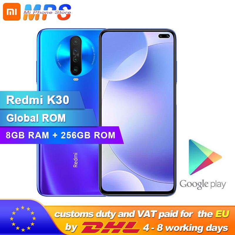 Globale ROM Xiaomi Redmi K30 8GB 256GB 4G Smartphone Snapdragon 730G Octa Core 64MP Kamera 120HZ Flüssigkeit Display 4500mAh