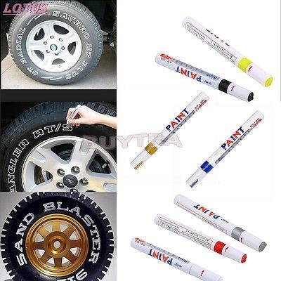 Новые 7 цветов водонепроницаемые автомобильные шины протектора резиновые металлические маркер с перманентной краской ручки