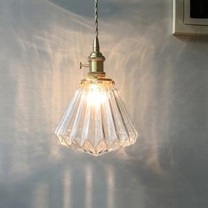 Vintage Glass Pendant Light for living room dinning room home decor hanglamp Minimalist E27 indoor lighting fixtures