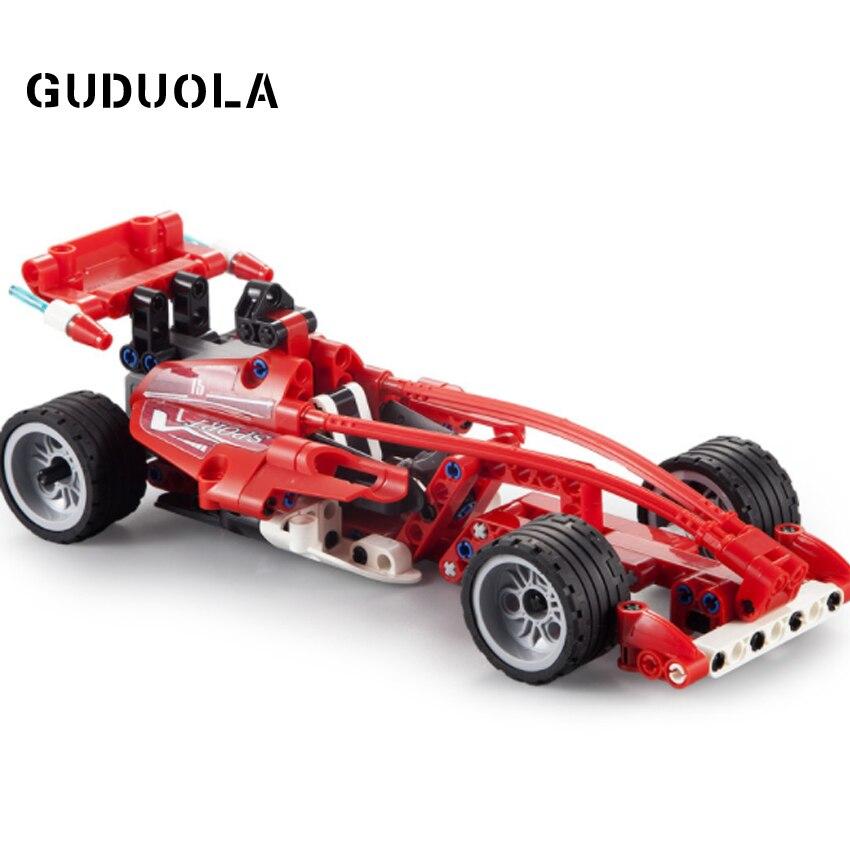 Конструктор с тяговым эффектом, гоночный автомобиль, мощность, формула силы, автомобильные блоки, развивающие блоки «сделай сам» для детей, ...