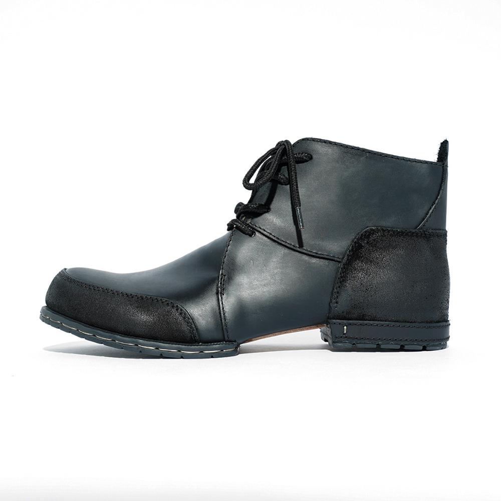 OTTO-أحذية جلدية مصنوعة يدويًا للرجال ، أحذية شتوية برشام ، جلد البقر الأصلي ، أحذية عصرية ، شحن سريع مجاني