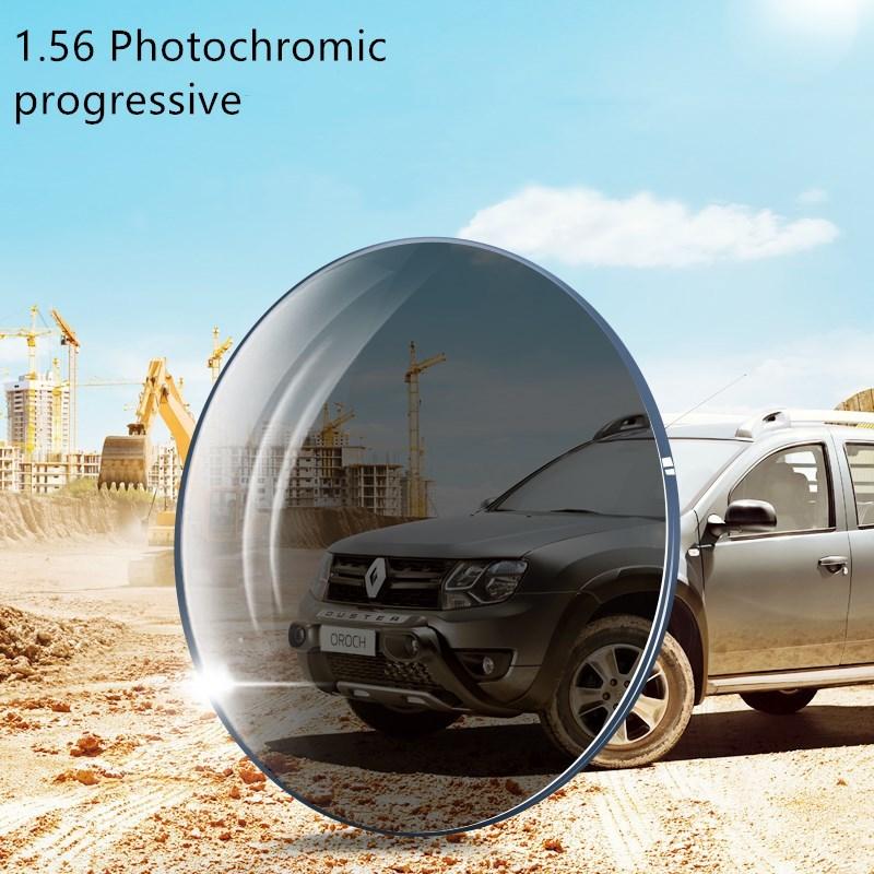 1.56 فوتوكروميك البني أو الرمادي ، نطاق SPH التقدمي-6.00 ~ 5.50 كحد أقصى CLY -4.00 إضافة 1.00 ~-3.50 عدسات بصرية للنظارات