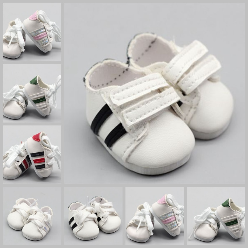 5cm Sport Mini Toy Shoes for 1/6 BJD Doll Fashion Handmade Sneakers Shoes for Baby Doll Clothes Acce