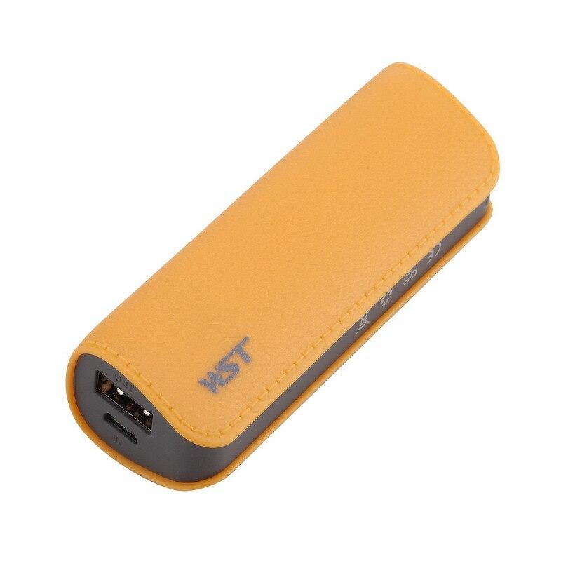 Mini banco de energía 2600mAh batería de carga portátil 18650 baterías externas Li-ion para Samsung iPhone puertos USB móviles Powerbank