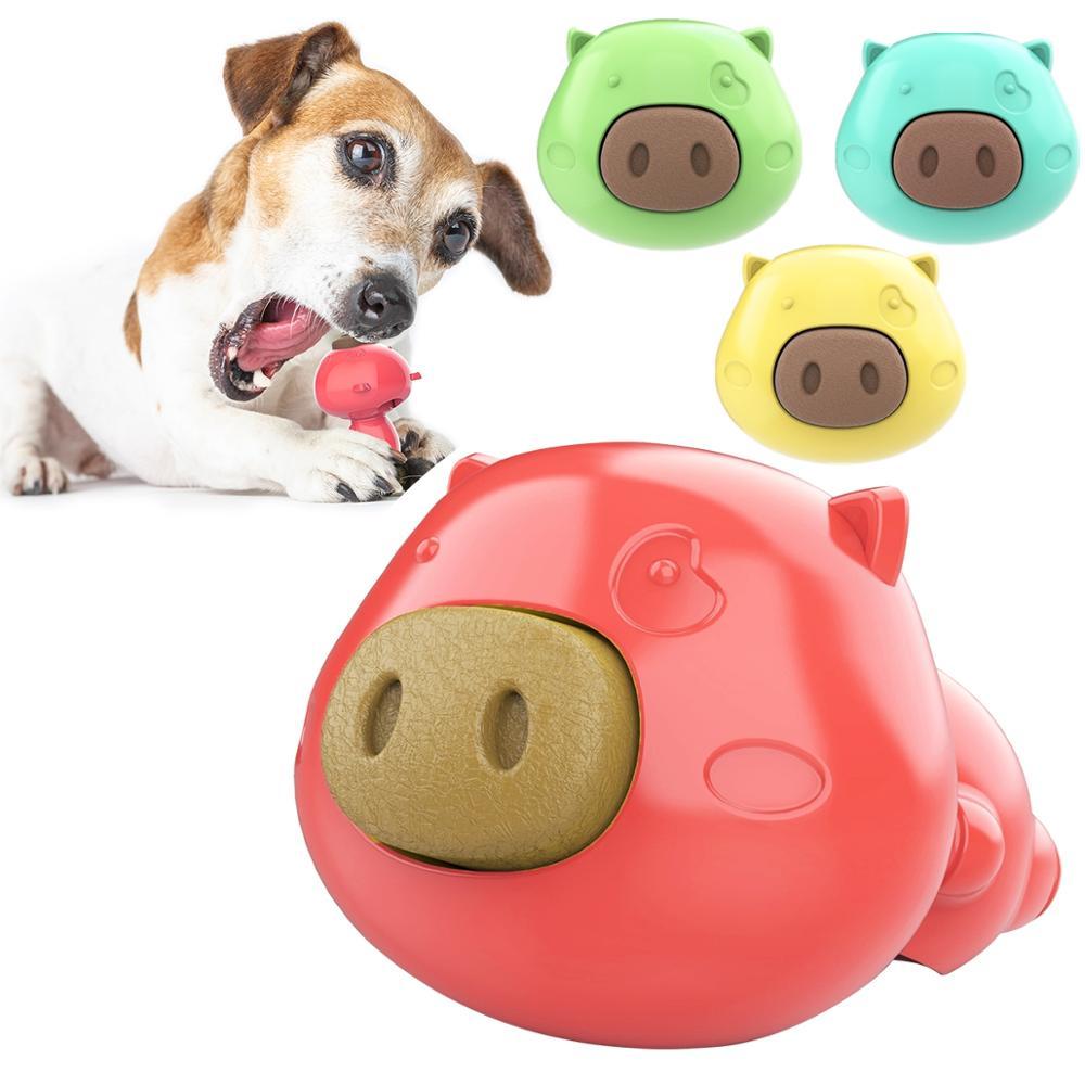 Bonito juguete de perro de goma Neutral para lamer el cerdo, juguete de pastel Molar, juguete educativo resistente para mascotas, Suministros 1 Juego