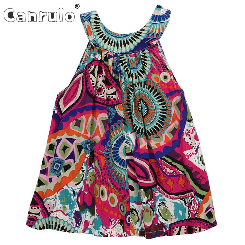 Kids Little Girls Dresses Toddler Printed Flower Baby Girl Sleeveless Party Tutu Summer Mini Dress 3