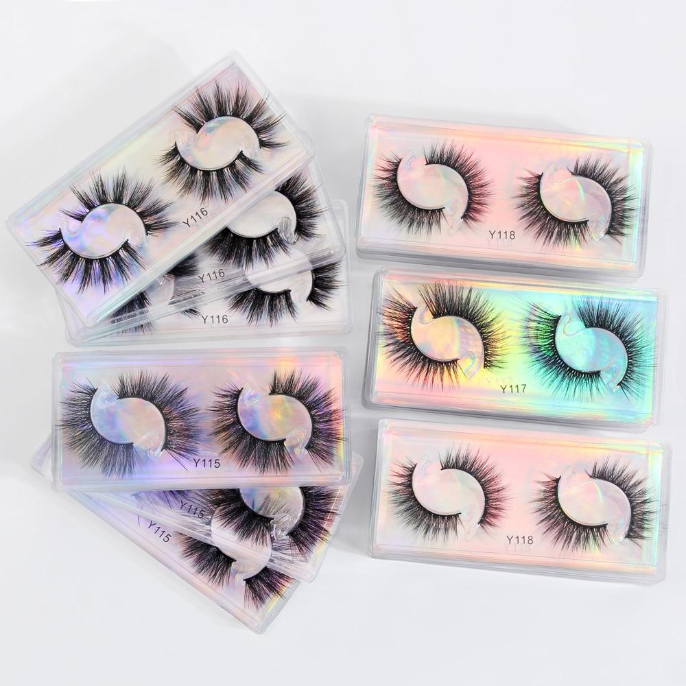 Ресницы из искусственной норки 3D оптом 5/10/20/30/50/60/100 шт. норковые ресницы для макияжа объемные натуральные Мягкие Накладные ресницы оптом