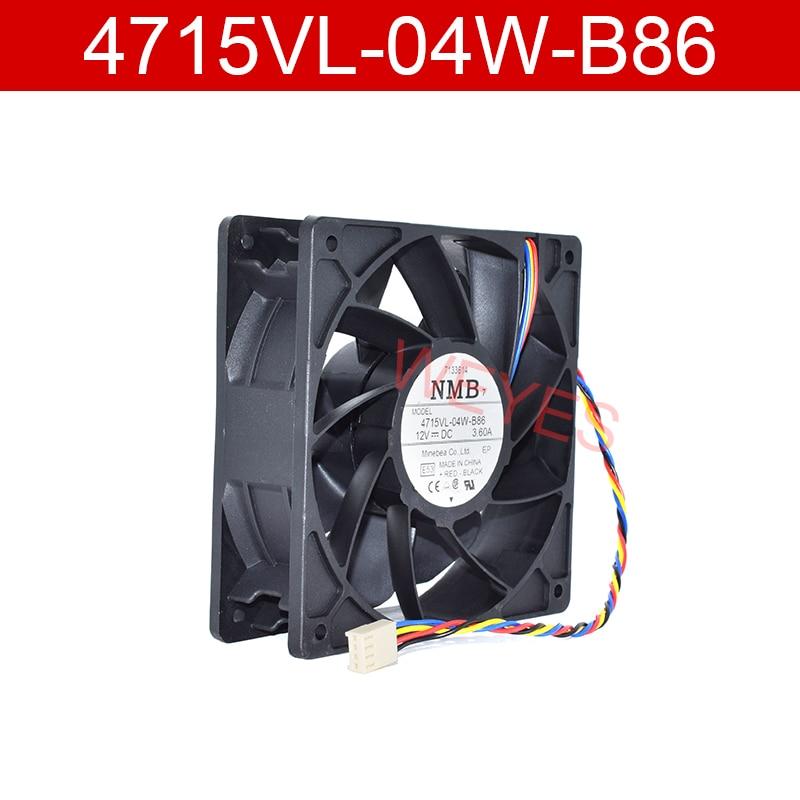 Original para 4715vl-04w-b86 dc12v 3.60a 12038 120*120*38mm quatro-fio ventilador de refrigeração