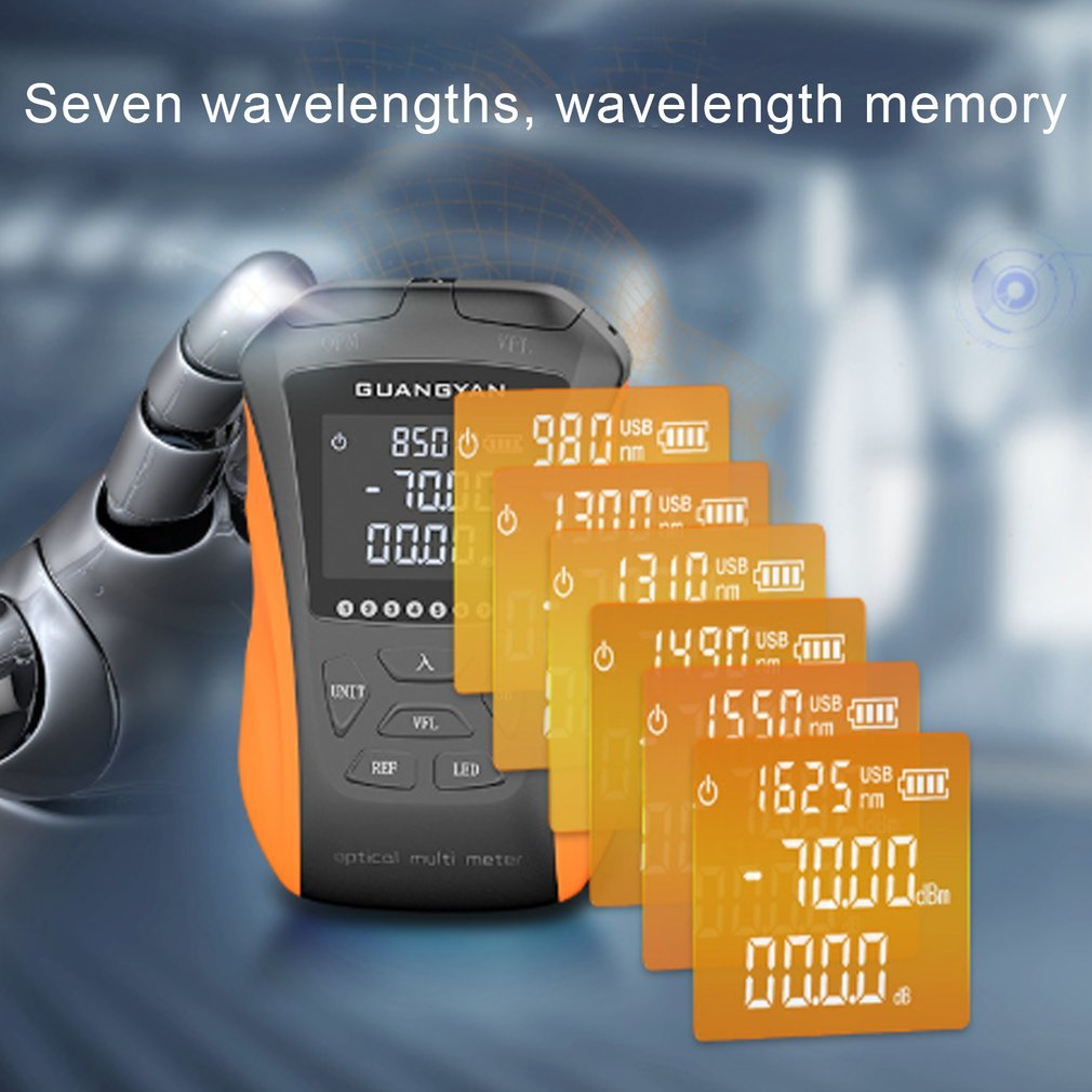 G8-SGS211/G8-SGS311 Rechargeable Optical Power Meter 15km -70+10 Multi-function Five/Six In One Red Light Integrated Machine enlarge