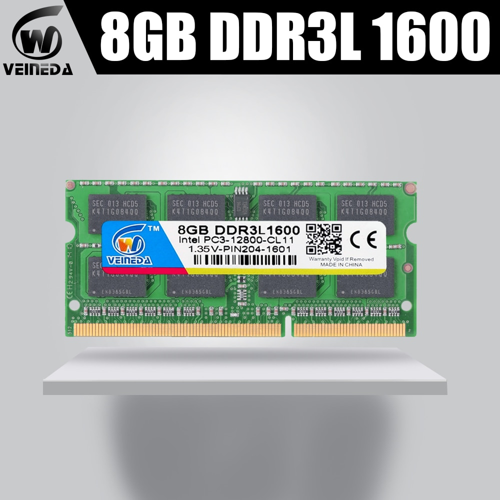 VEINEDA Memoria ram DDR3L 2gb 4gb 8gb 1333MHZ ram-memoria-ddr3L 1333Mhz Intel AMD Sodimm ddr3L 2gb 4gb 8gb pc3-12800 204pin