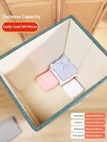 joybos storage box fabric with lid large capacity organizer underwear foldable household leather handle laundry toy cabinet jx58