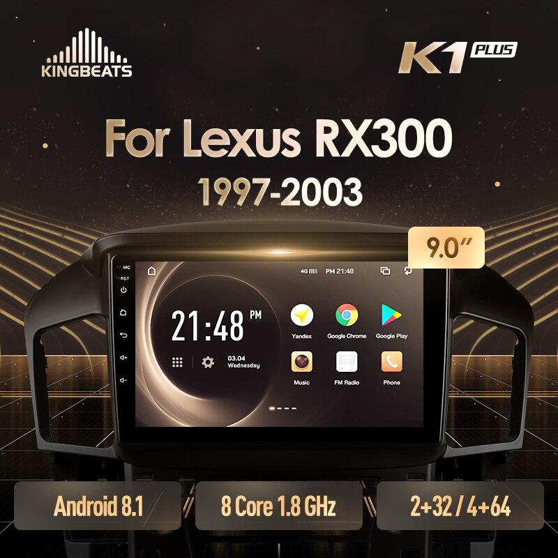 KingBeats Android 8,1 unidad principal 4G en Dash Car Radio reproductor de vídeo Multimedia navegación GPS para Lexus RX300 XU10 1997 200
