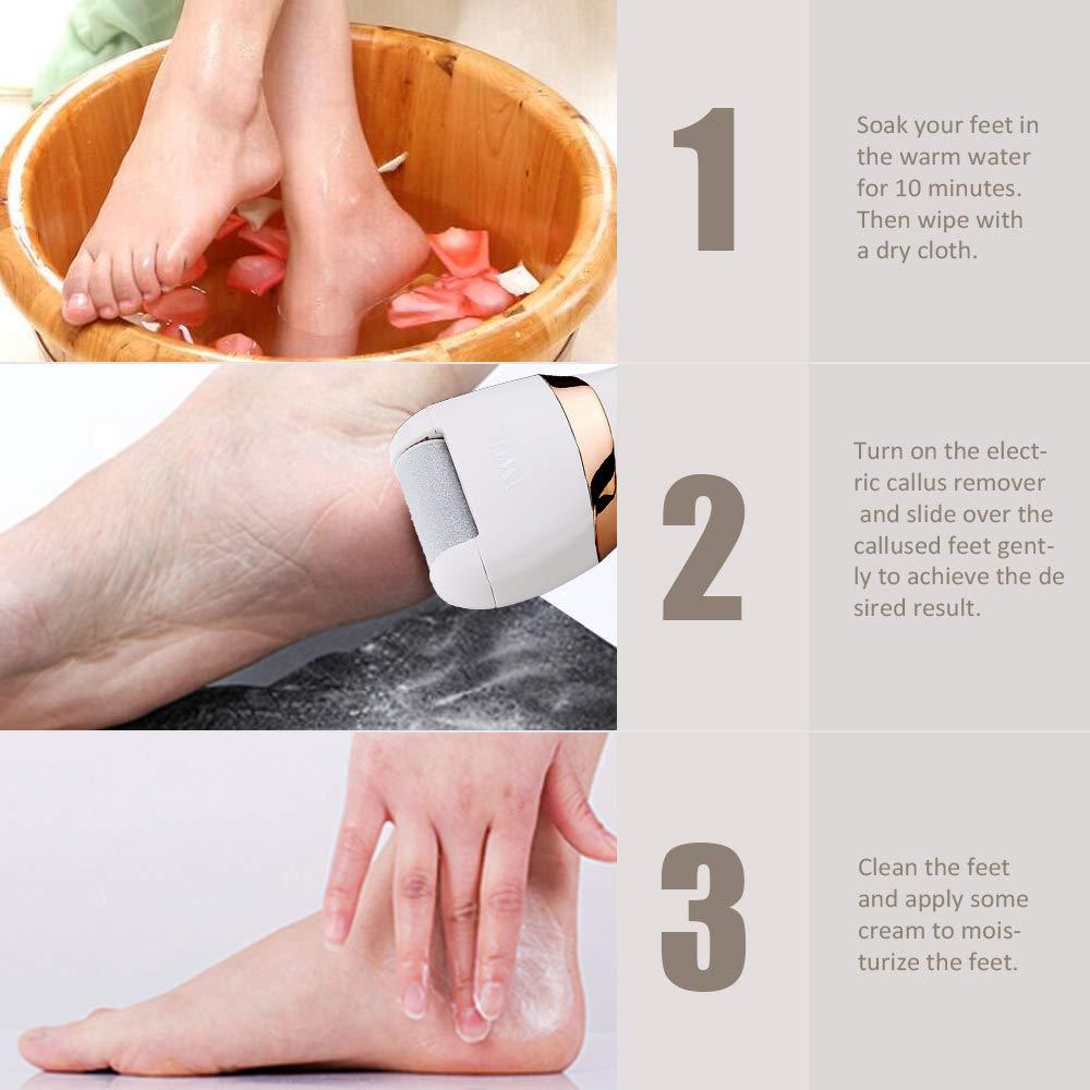 Купить с кэшбэком Rechargeable Foot File Hard Skin Remover Pedicure Tools Feet Electronic Callus Shaver Waterproof Pedicure kit Cracked Heels