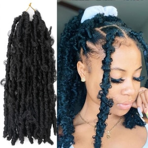 Saisity Ombre 14Inch Butterfly Locs Synthetic PassionTwist Crochet Braiding Hair Extension Spring Twist Braids Hair
