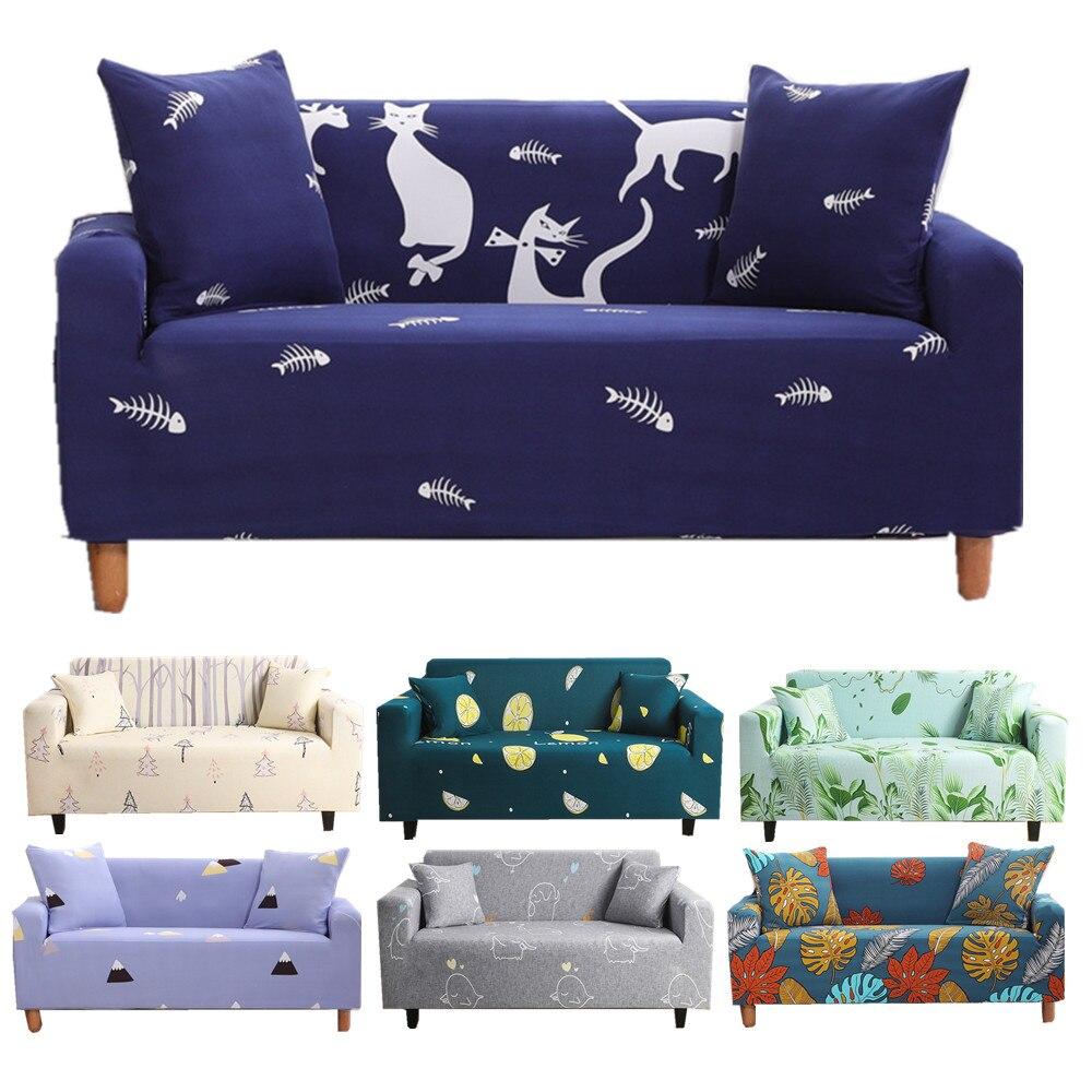 Funda de sofá elástica de dibujos animados Funda de sofá ajustable para Funda sofá tipo diván Lounge protegido Forma I Funda para sillón