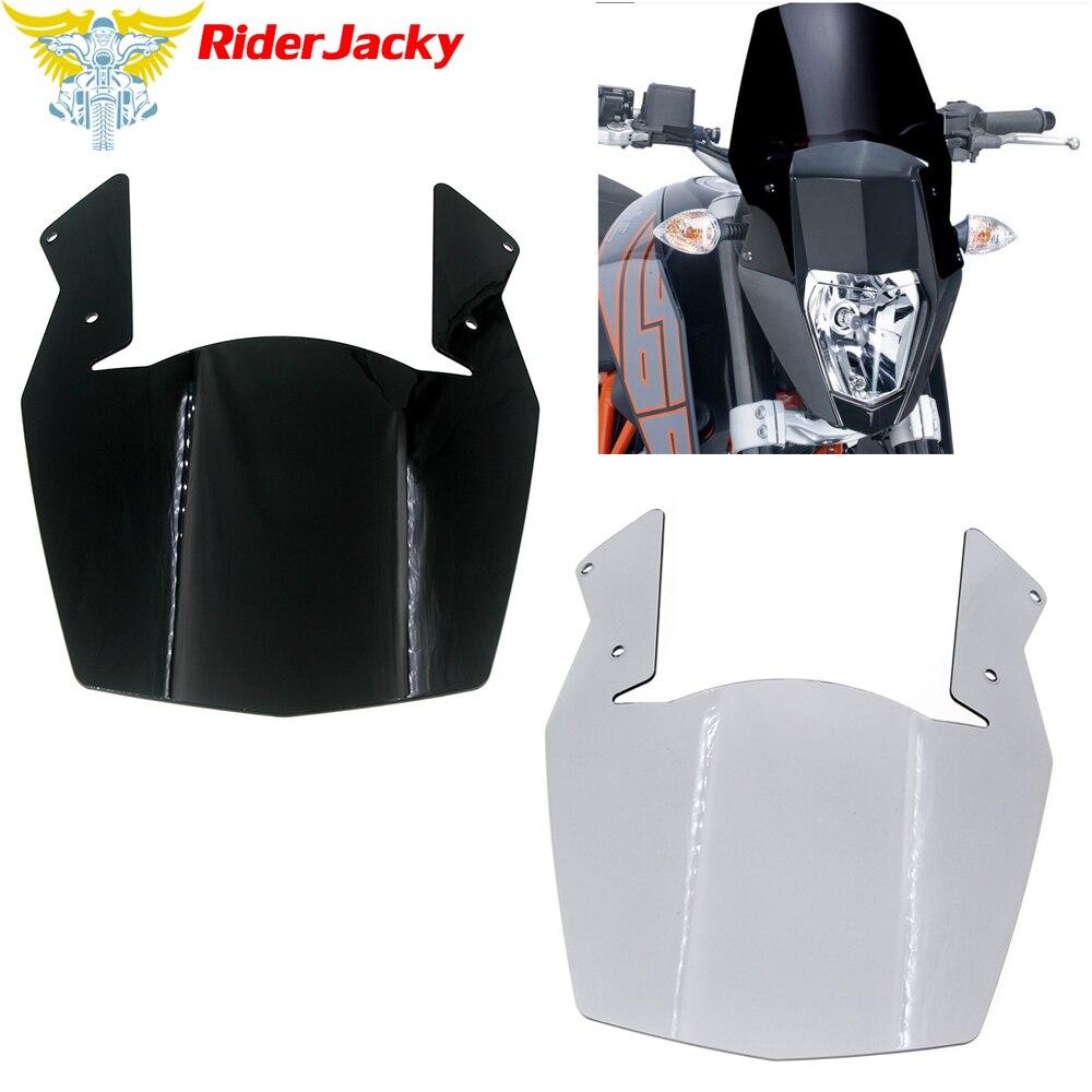 Pour KTM Duke 690 2012 2013 2014 2015 2016 2017 2018 avec support moto pare-brise pare-brise protecteur couverture vent déflecto