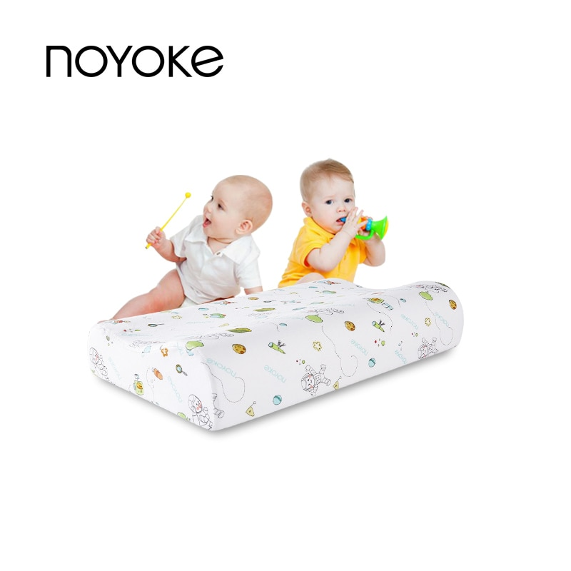 NOYOKE Latex Anti-Snore Pillows Sleeping Cartoon Space Kids Children Skin-friendly Anti-mite Pillows For All Seasons