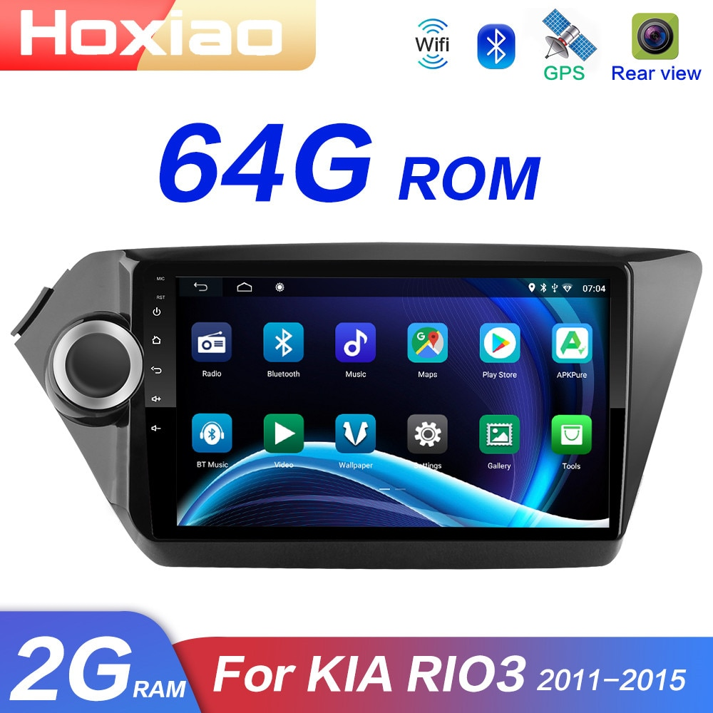 2din rádio do carro multimídia player android 8.1 rom 64g navegação gps wifi para kia rio 3 4 rio 2010 2011 2012 2013 2014 2015 2016