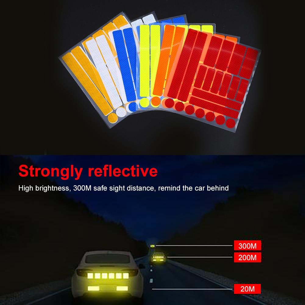 Car Stickers Rearview Car reflective Strip sticker Car Accessori Anti-collision Warning Sticker Exterior Reflex Reflective Strip