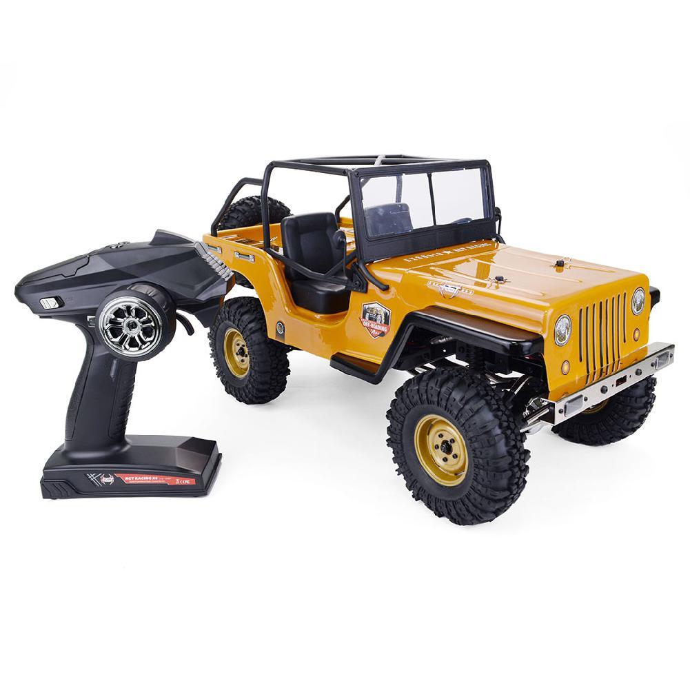 RCtown RGT EX86010-CJ 1/10 2,4G 4WD, transmisión dividida, todoterreno, vehículo de escalada de roca, coche de radiocontrol RTR