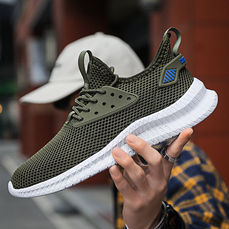 peak taichi women lightweight running shoes fashion casual shoes shock sneakers breathable tennis shoes adaptive sport shoes 2021 New Running Shoes Men Mesh Breathable Sneakers Lightweight Lace-up Casual Walking Tennis Shoes Fashion Summmer Men Sneakers