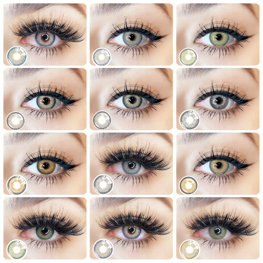 EYESHARE 2PCS/Pair Fashion Natural Color Contact Lens Eye Colored Lenses Contacts Beauty Equipment