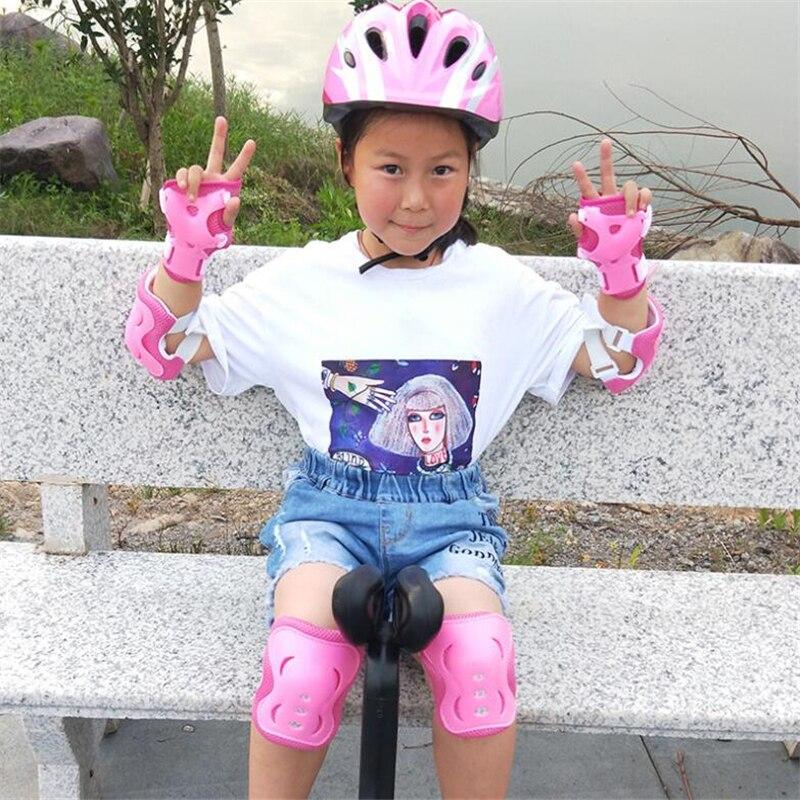 6 pçs/set crianças esportes protegido engrenagem joelheiras cotovelo almofadas de pulso guardas patinação proteção de segurança almofadas cotovelo joelho