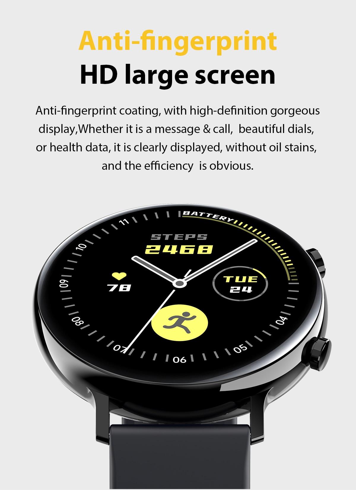 Ecg ppg smartwatch bluetooth chamada monitor de