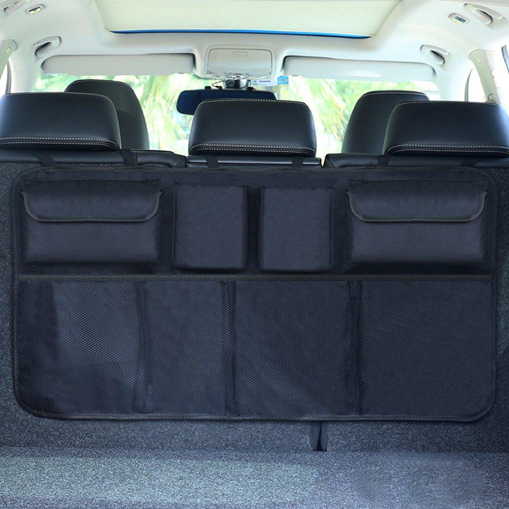 Car Trunk Storage Bag Car Accessories Organizer Car Trunk Net Nylon SUV Auto Cargo Storage Mesh Holder