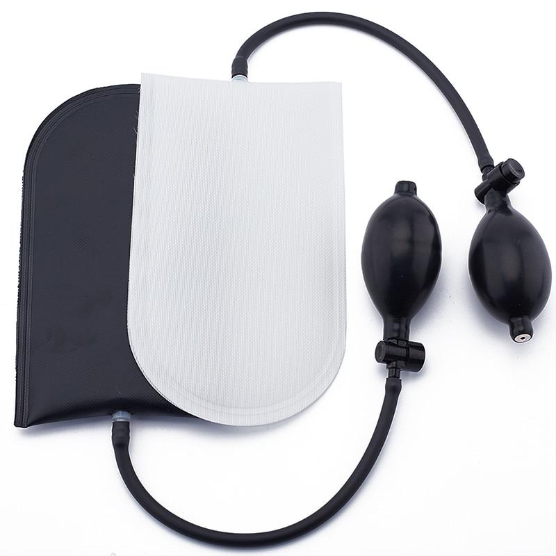 Black/White Airbag Cushioned Hand Pump Locksmith Air Wedge Inflatable Car Door Opener Tool
