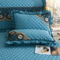 2pcs brushed quilted lace pillowcase cover rectangle bedding home decor pillow sham 48x74cm bedroom for all reasons