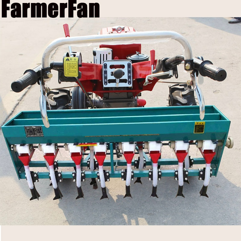 Walking tractor wheat planter single sowing double sowing fertilizing and seeding small agricultural machinery 4-8 rows