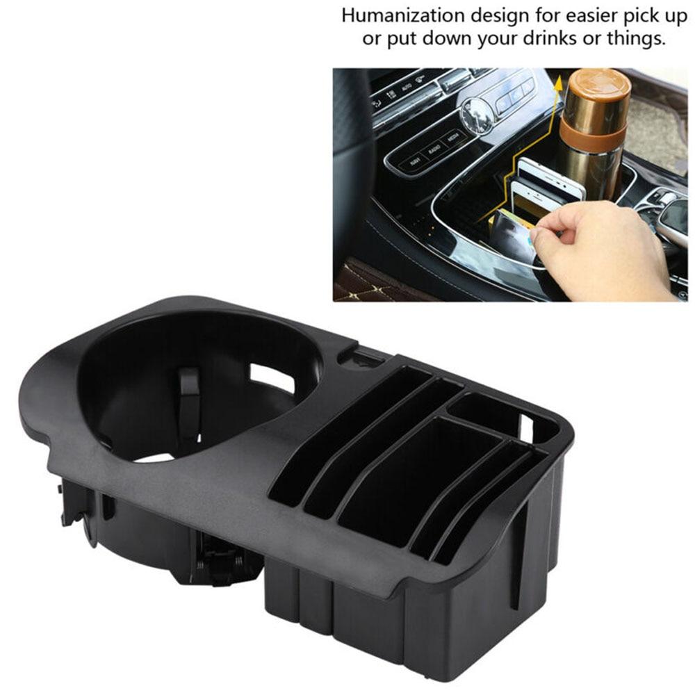 Soporte para caja de almacenamiento Central de coche, para Mercedes Benz C E Class W205 W213 GLC X253, caja de almacenamiento Central negra