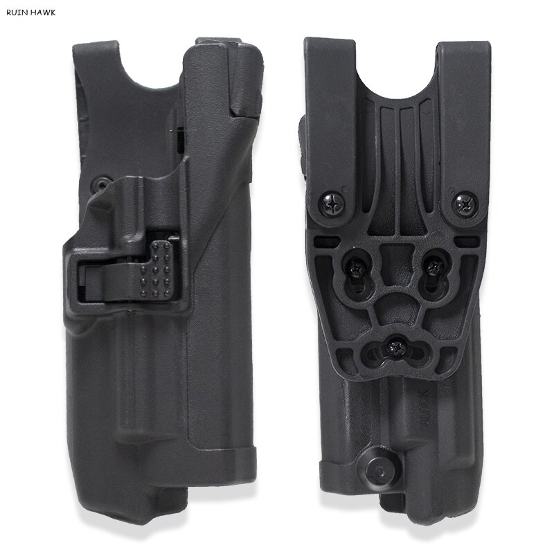 LV3 Tactical Belt Holster Military Army Combat Gun Quick Drop For Glock 17 19 22 23 31 32 Hunting Pouch